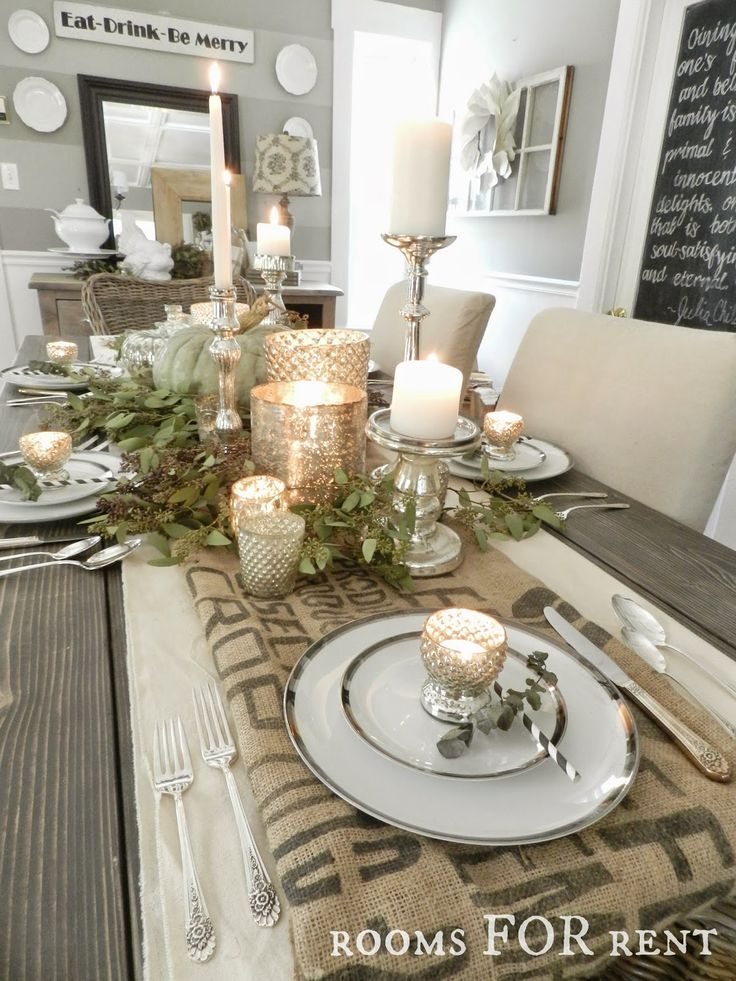 ~rooms FOR rent~: Mercury Glass Thanksgiving Tablescape {Grand Finale}