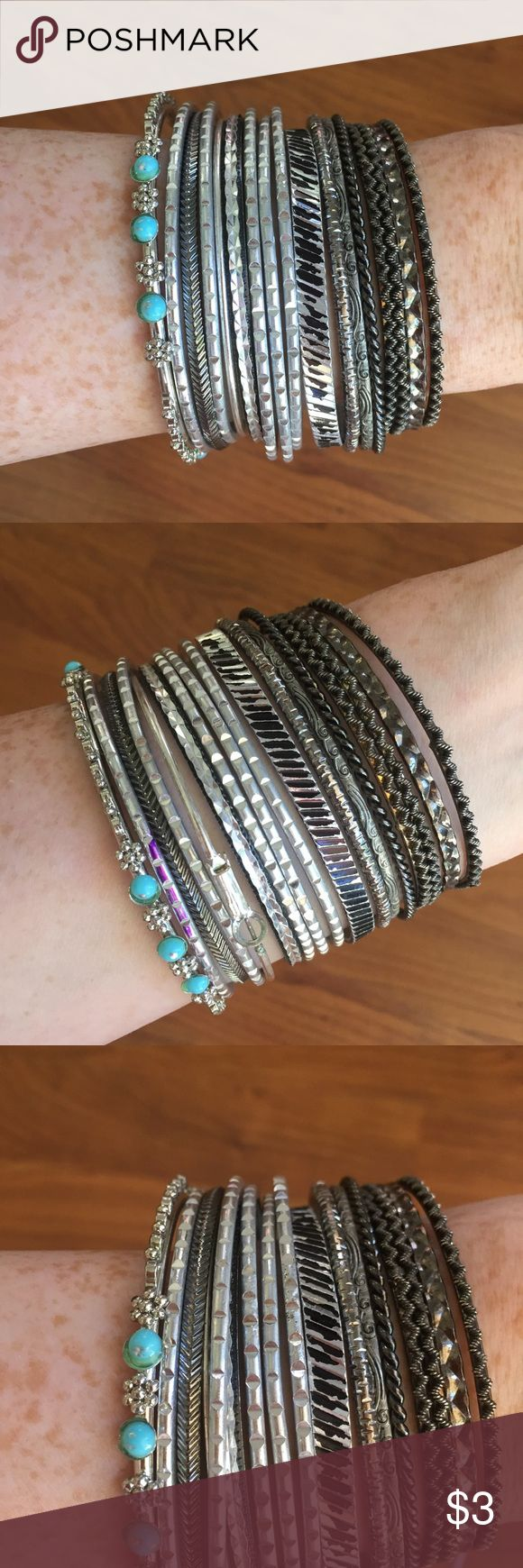 Ornate silver premium boho bangles ✌️ Free with bundle purchase only $15 or more :-) Free People Jewelry Bracelets