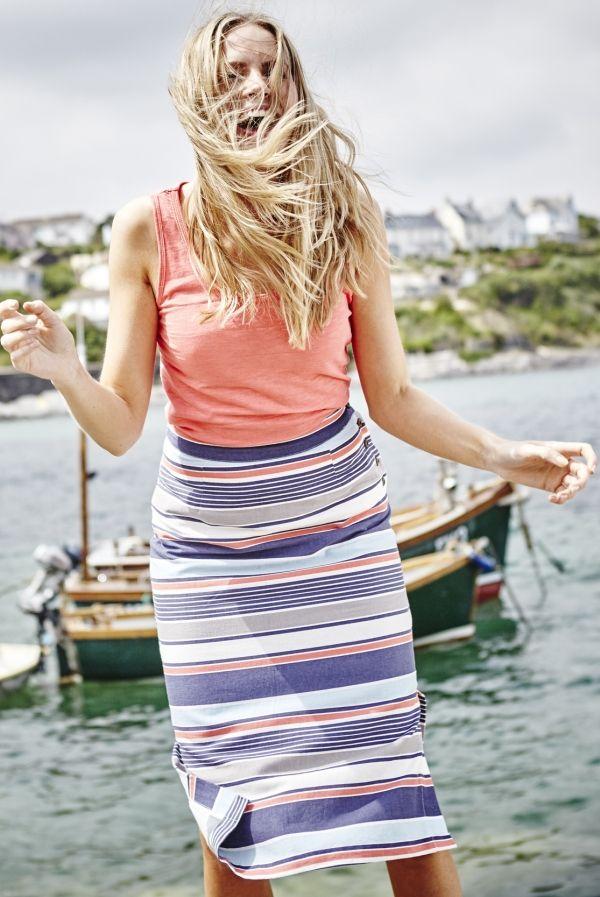 Midi Skirt Stripe
