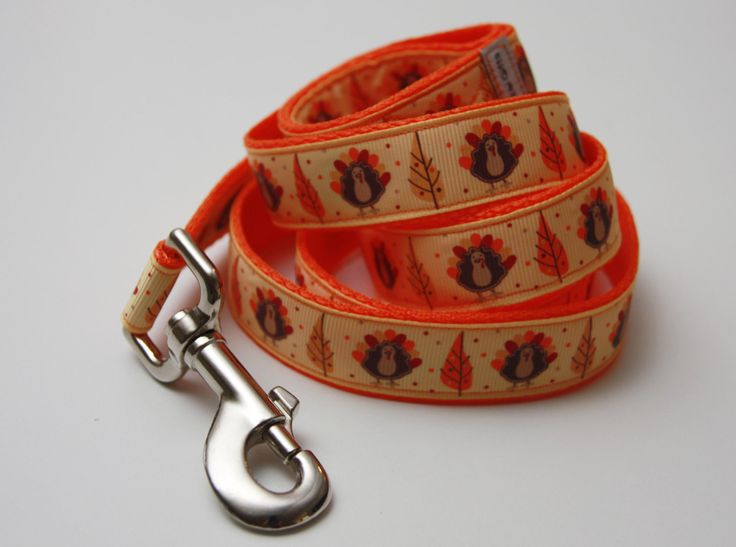 """Thanksgiving Turkey/ Fall 1"""" Dog Leash by Bonzai Gifts by Pet Nanny on Etsy"""