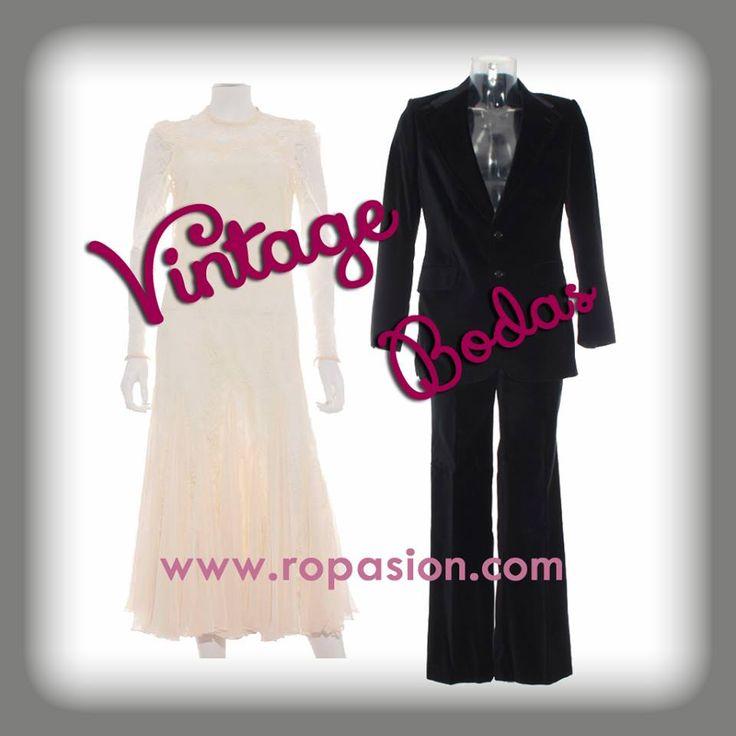 Vuelve la moda vintage hasta el altar. http://www.ropasion.es/ropa-segunda-mano/vestido-mujer-vintage-9 http://www.ropasion.es/ropa-segunda-mano/traje-hombre-vintage-milano http://www.ropasion.es/ropa-segunda-mano/vintage