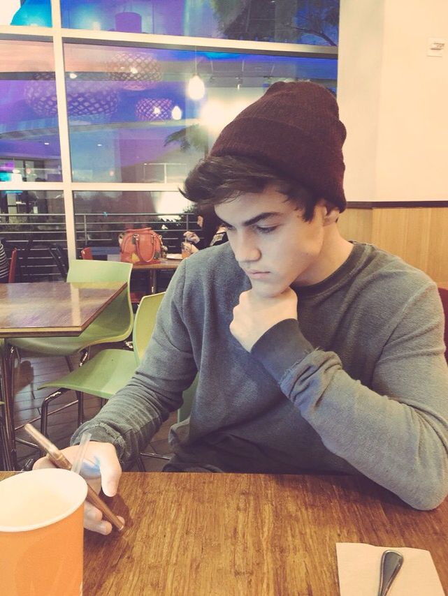 "(F.C. Ethan Dolan) ""Hi... I'm Prince James the older out of me and my twin, though I am still 20. I'm a little soft spoken and awkward, but am excited to meet all of you."""