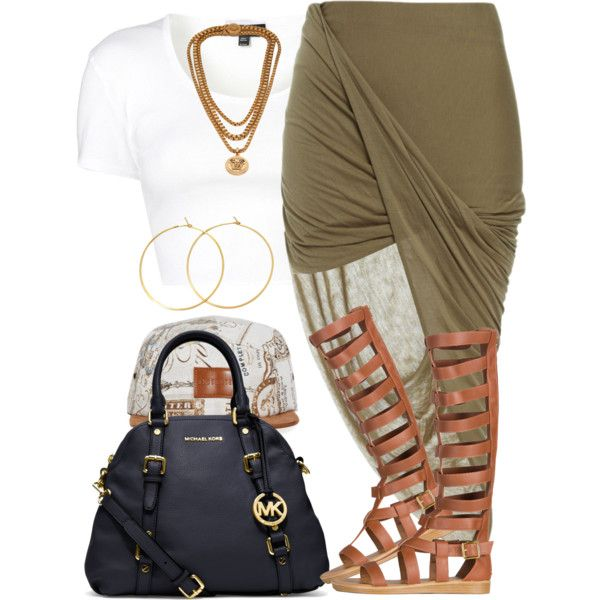 A fashion look from July 2014 featuring Topshop t-shirts, Bardot skirts and Michael Kors handbags. Browse and shop related looks.
