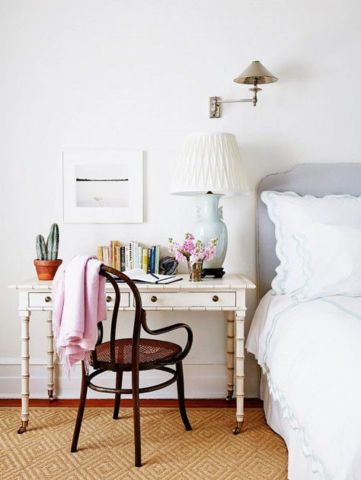 14 desk-nightstands (sometimes you don't have room for both!)