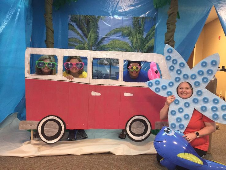 OK--- now this is one of the wonderful benefits of being a Surf Shack VBS Leader!! Catch a ride to VBS with these wonderful leaders.  VBS this week will be a blast! cokesburyvbs.com
