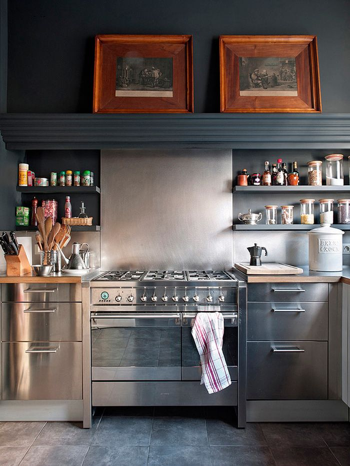 Industrial Chic The Stainless Steel Kitchen