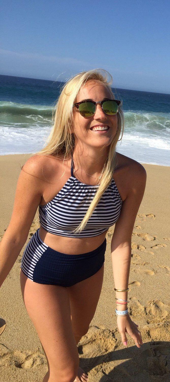 Nautical High Waisted Swimsuit by PALMPALMSWIM on Etsy https://www.etsy.com/listing/227233845/nautical-high-waisted-swimsuit