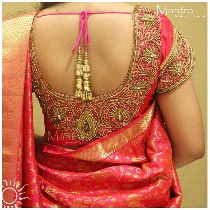 Hand embroidery designs saree blouse home design ideas