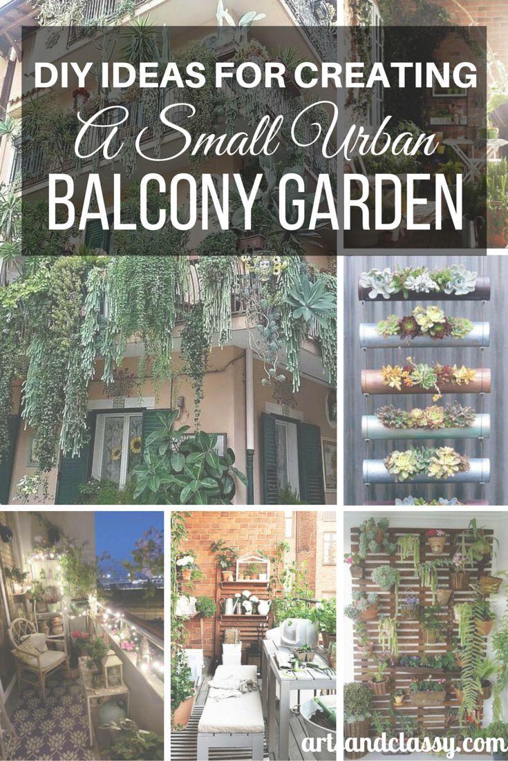 Urban gardening ideas containers - Diy Ideas For Creating A Small Urban Balcony Garden