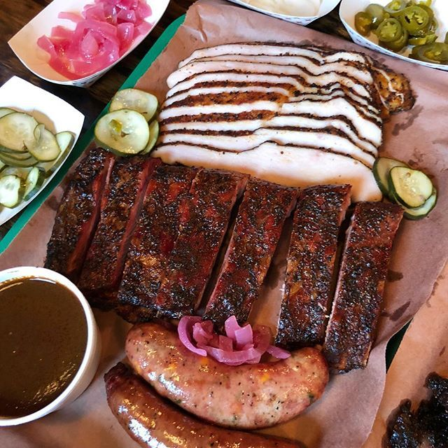 Some Beautiful And Delicious Smoked Turkey Ribs And Sausage From Tejaschocolate In Tomball Texas Incidentally I Found A Piece Of The Very Last Chocolate Truf