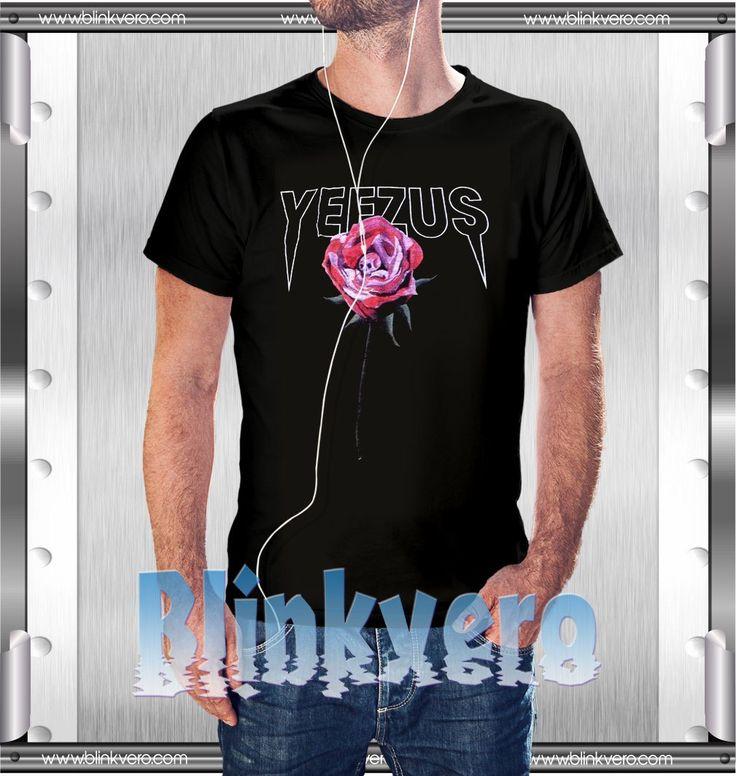 kanye west yeezus tour rose tshirt