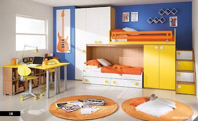 amarillos, naranjas y azules
