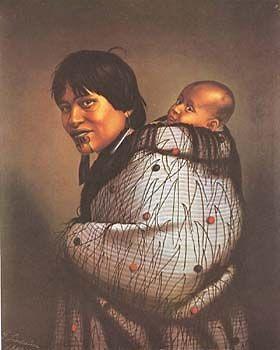 Ana Rupene & Child by Gottfried Lindauer for Sale - New Zealand Art Prints