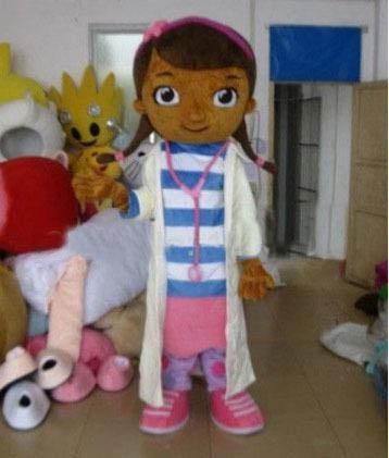 actual pictures Doc McStuffins Mascot Costume Adult Size Classic Party Costumes Fancy Dress Suit Free Shipping Halloween