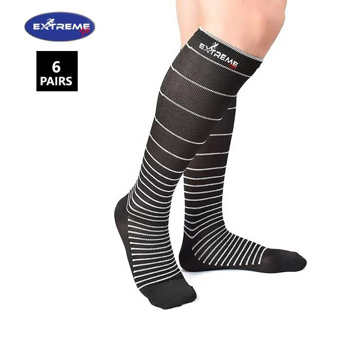 Extreme Fit ® 6-Pairs Unisex Stress Relief Compression Socks