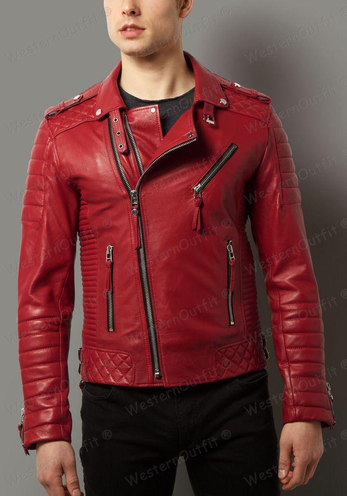 New Men's Genuine Lambskin Leather Jacket Slim fit Biker Motorcycle jacket GV215 #WesternOutfit #Motorcycle