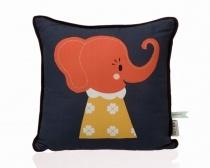 Kissen Elle Elephant aus biologischer Baumwolle