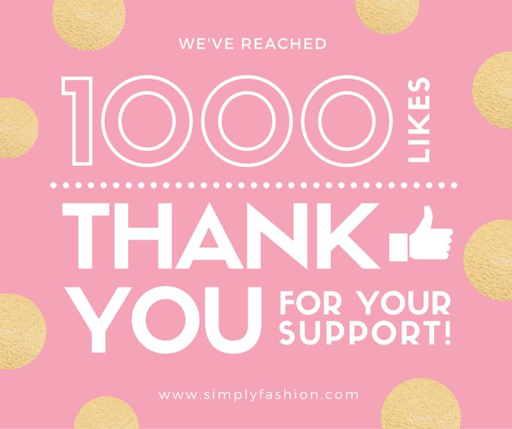 We've reached 1000 Likes thank You For your Support! www.simplyfash...