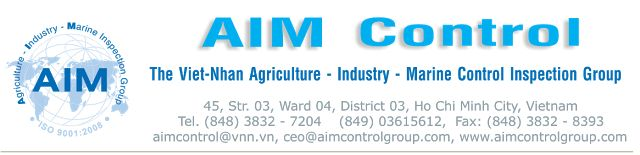 Cargo inspection: Cargo inspections inspection services, testing, quality Control, certification, independent surveyors and inspectors based in Vietnam, China, India, Korea, Asia, Europe, the Middle East Anywhere of Countries. Our Local Email: inspection@aimcontrolgroup.com, aimcontrol@hotmail.com, cell: +84903615612.