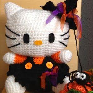 Amigurumi: Hello Kitty Bruja Patrón Gratis en Español