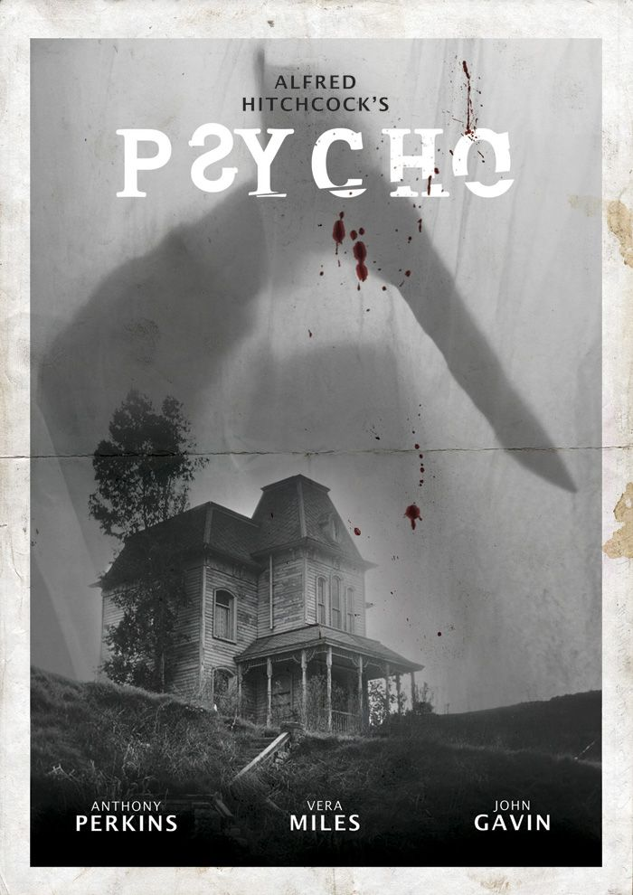 Psycho ~ Starring: Anthony Perkins, Janet Leigh and Vera Miles (1960).  There's always vacancy at the Bates Motel.