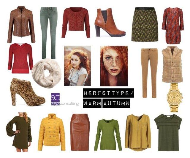 Herfsttype met rood haar. Warm autumn color type. By Margriet Roorda on Polyvore featuring mode.