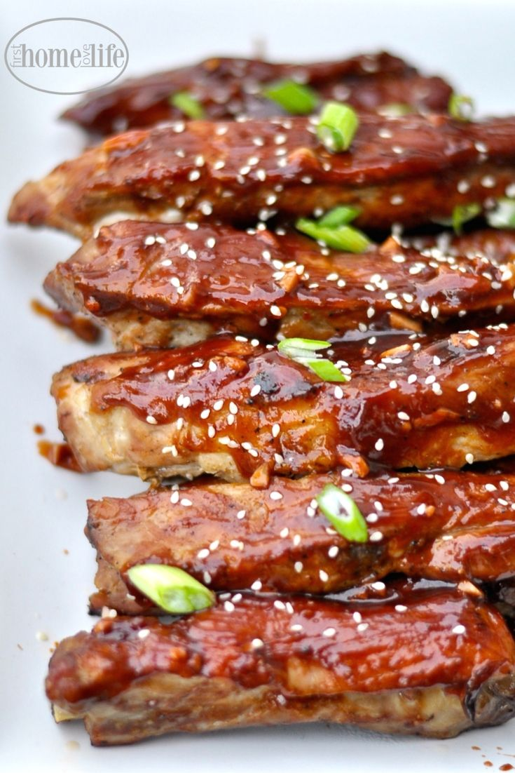 These Chinese style spare ribs are lick your fingers good! Taste just like the ones you get at a Chinese restaurant via firsthomelovelife.com
