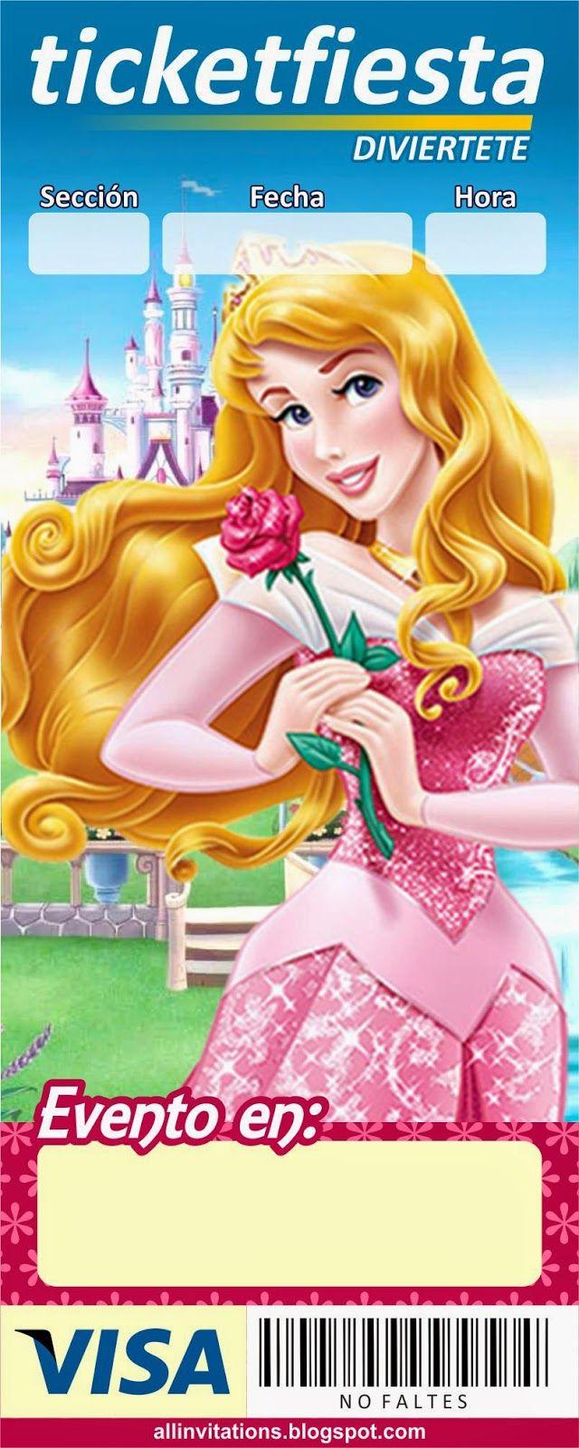 Invitación ticketmaster Princesa Aurora