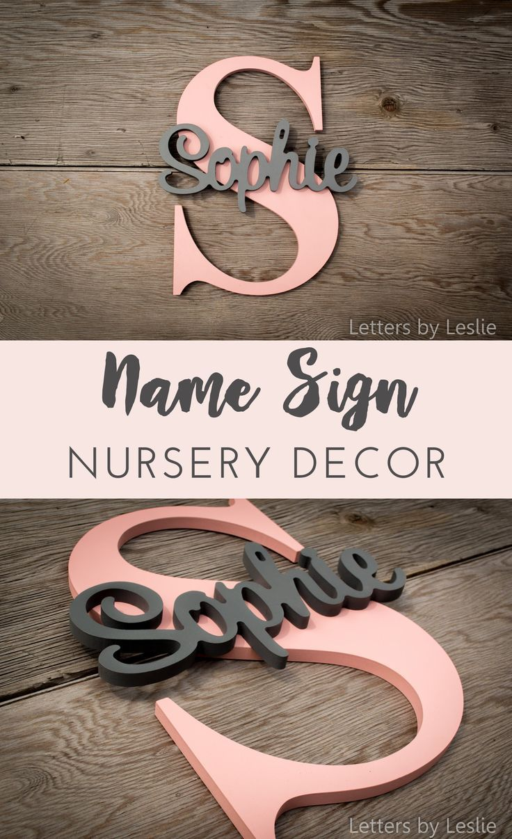 This personalized name letter sign is now by far my must-have decor element for my baby girl's nursery! I absolutely love it! They have a wide range of colors so it fits with any nursery or kids room theme. I could use it as photo prop as well and make be