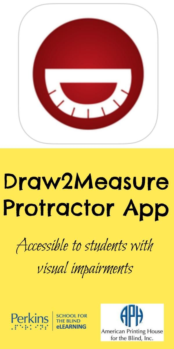 Free and accessible protractor app for students who are blind or low vision