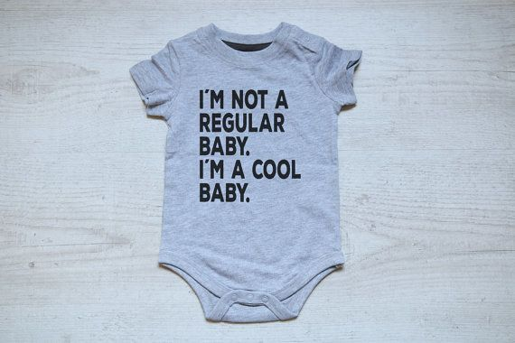 This onesie for the baby who is anything but traditional.   29 Gifts For The Coolest Baby You Know