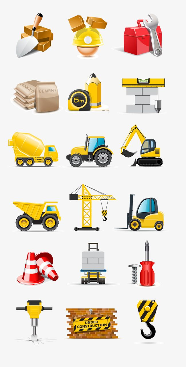 Construction Sites Icon Vector Material Free Download