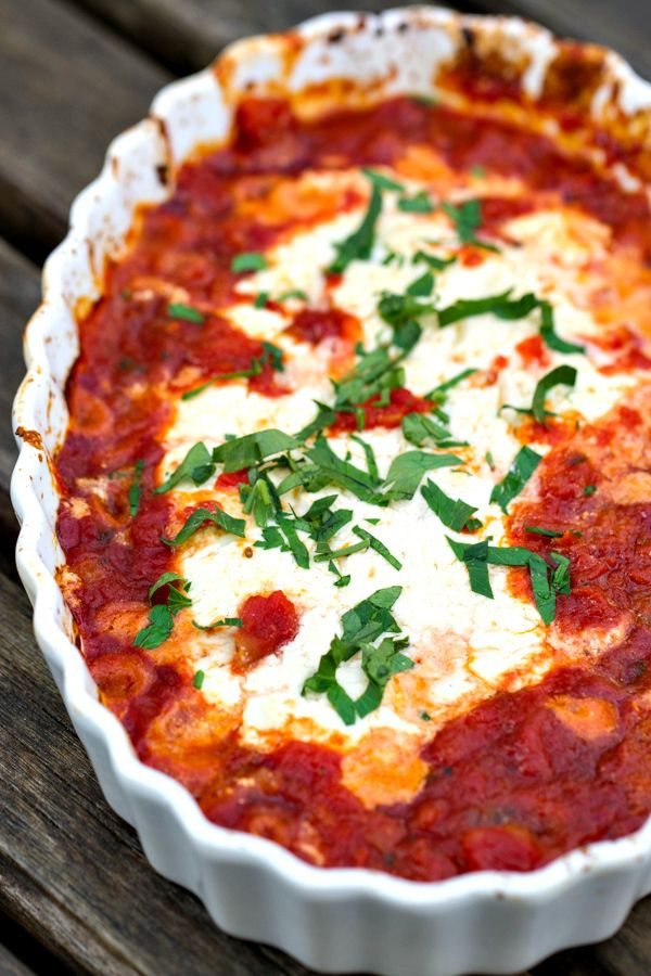 Baked Goat Cheese topped with marinara sauce and basil is always a crowd favorite. Serve this three ingredient appetizer with crostini or garlic bread for dipping!