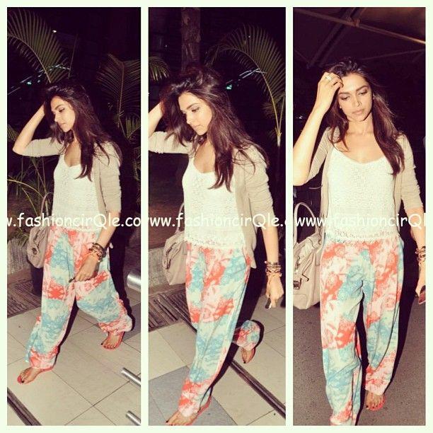 deepika padukone casual style! fab or drab? i think fab!