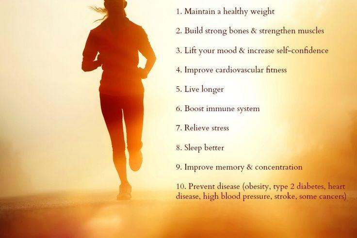 10 Health benefits of running