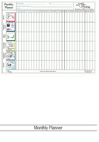 Monthly - allows 6 activities tobe tracked for a month.