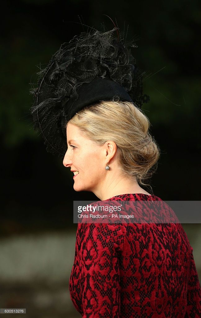 The Countess of Wessex arriving at the Christmas Day service at St Mary Magdalene Church on the Sandringham estate in Norfolk. (Photo by Chris Radburn/PA Images via Getty Images)