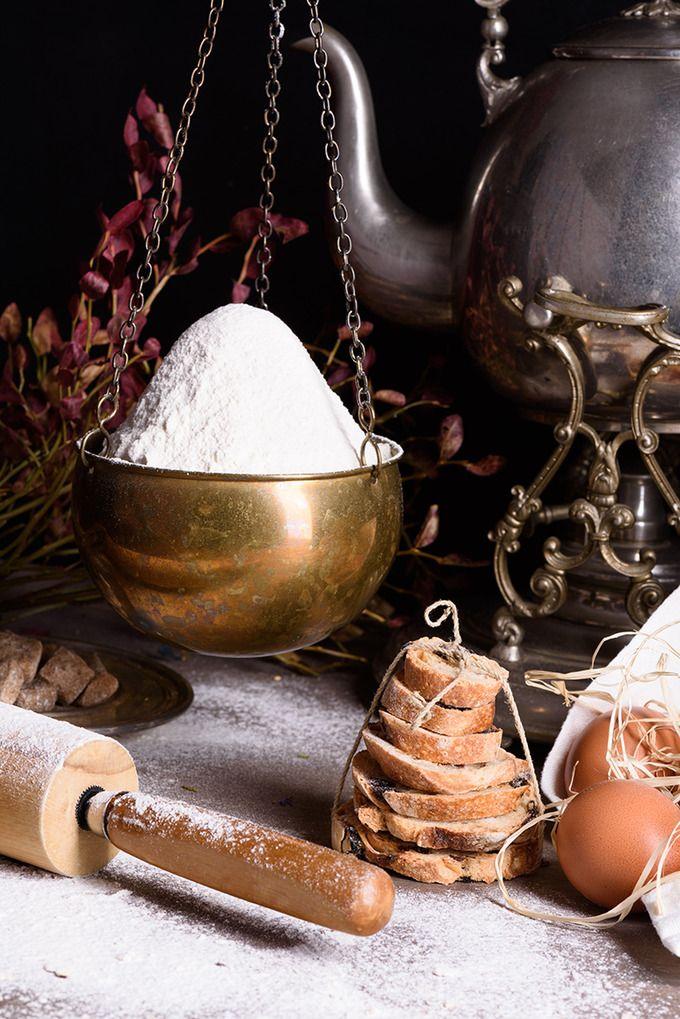 Bread baking ingredients by Iuliia Leonova on @creativemarket