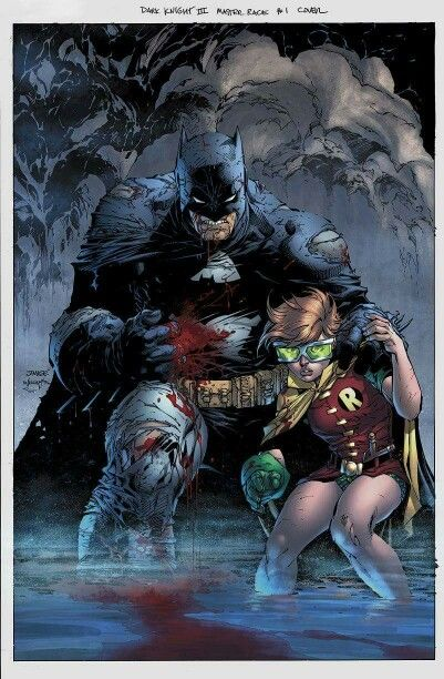 Dark Knight Returns Batman and Carrie Kelly Robin by Jim Lee
