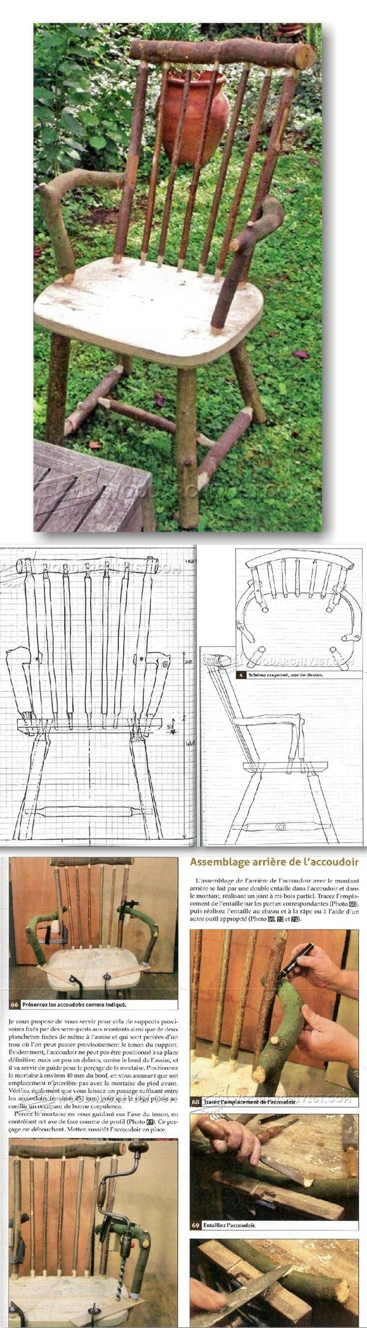 Rustic Chair Plans - Outdoor Furniture Plans and Projects   WoodArchivist.com