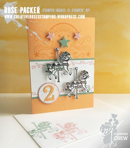 Carousel Birthday, Birthday blast. Colours - Peekaboo Peach, Mint Macaron, Blushing Bride and Whisper White.