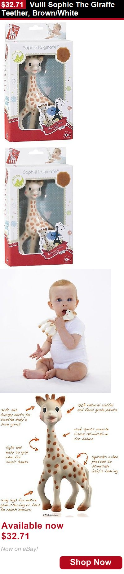 Teethers: Vulli Sophie The Giraffe Teether, Brown/White BUY IT NOW ONLY: $32.71
