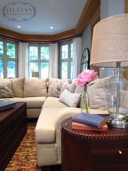 Jillian Harris' PNE Prize Home: Living Room #jillianharris #homedecor