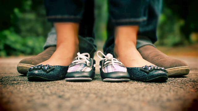 Schwangerschaft, Shooting, Partner, Schuhe, Prop, Ankündigung