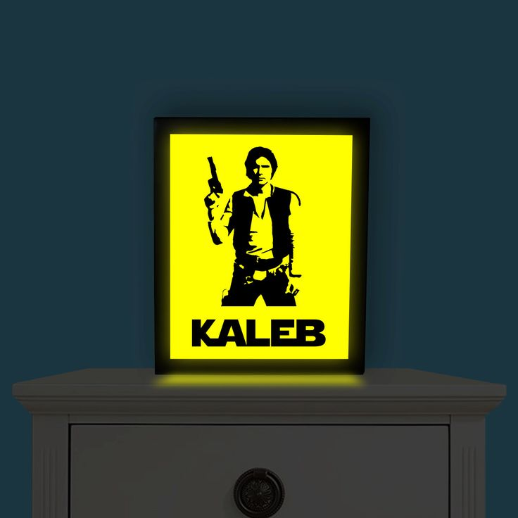Hans Solo Light Up Picture, Personalized Star Wars, Star Wars Night Light, Kids Night Light, Star Wars Decor, Star Wars Man Cave by IlluminatedDreamz on Etsy https://www.etsy.com/listing/456413792/hans-solo-light-up-picture-personalized