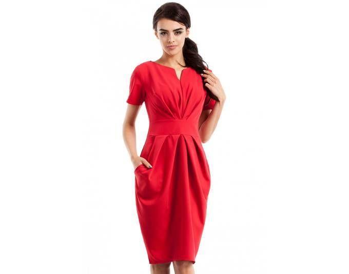 Clea Figurbetontes, gebundenes Damenkleid mit Seitentaschen ,Farbe: Rot, Größe: 38 Jetzt bestellen unter: https://mode.ladendirekt.de/damen/bekleidung/kleider/sonstige-kleider/?uid=4764887f-0b70-5a4f-ba97-17d8c8ce714a&utm_source=pinterest&utm_medium=pin&utm_campaign=boards #sonstigekleider #kleider #bekleidung