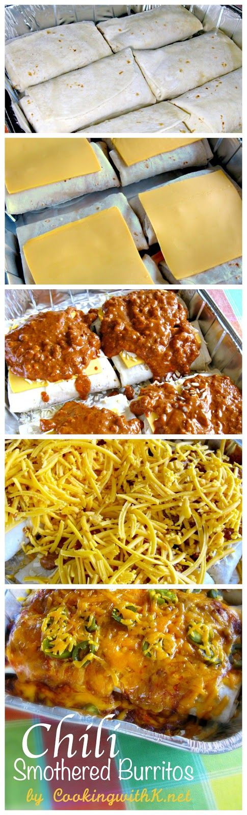 Chili Smothered Burritos is a wonderful recipe that will keep you out of fast food restaurants and your family sitting at the dinner table.   Don't forget to buy your frozen burritos and have them available when you are ready to make this recipe.