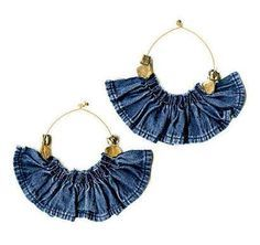 denim earrings -- I'd like to try  something similar as a necklace