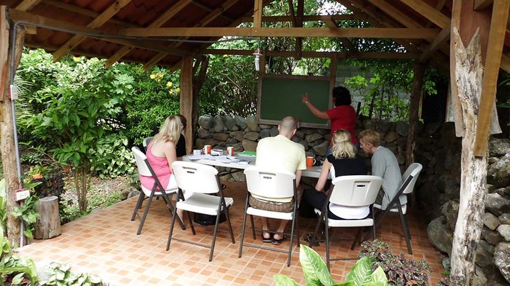 Tropical classroom -  Learn Spanish in Panama KILROY #class #teacher #learning #tropics #blackboard #backpacking #kilroy #travel