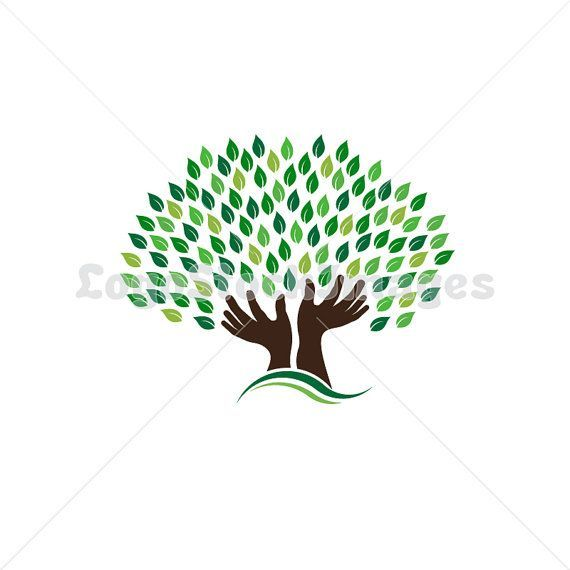 Logo Pre-made Hands Tree, concept of hope, pray, power - LSI409 - Commercial License - Logo Stock Images